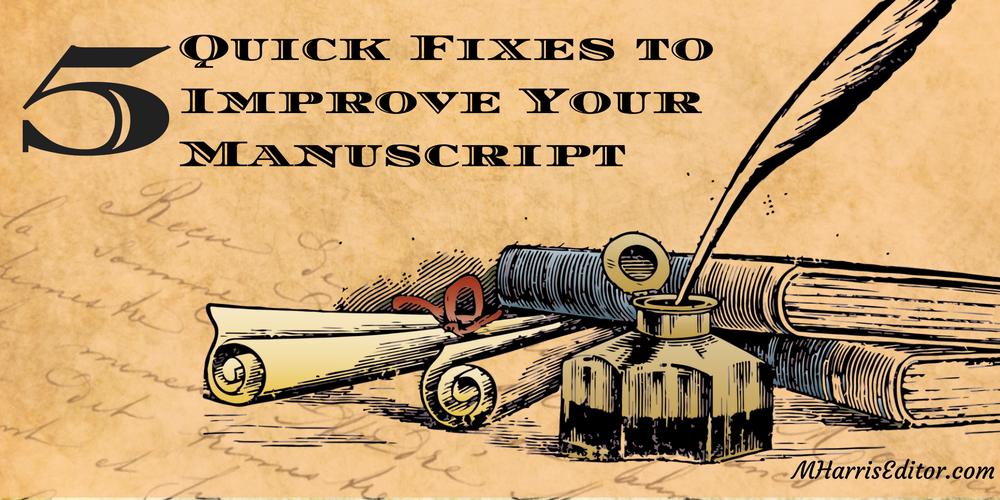 editing quick fixes