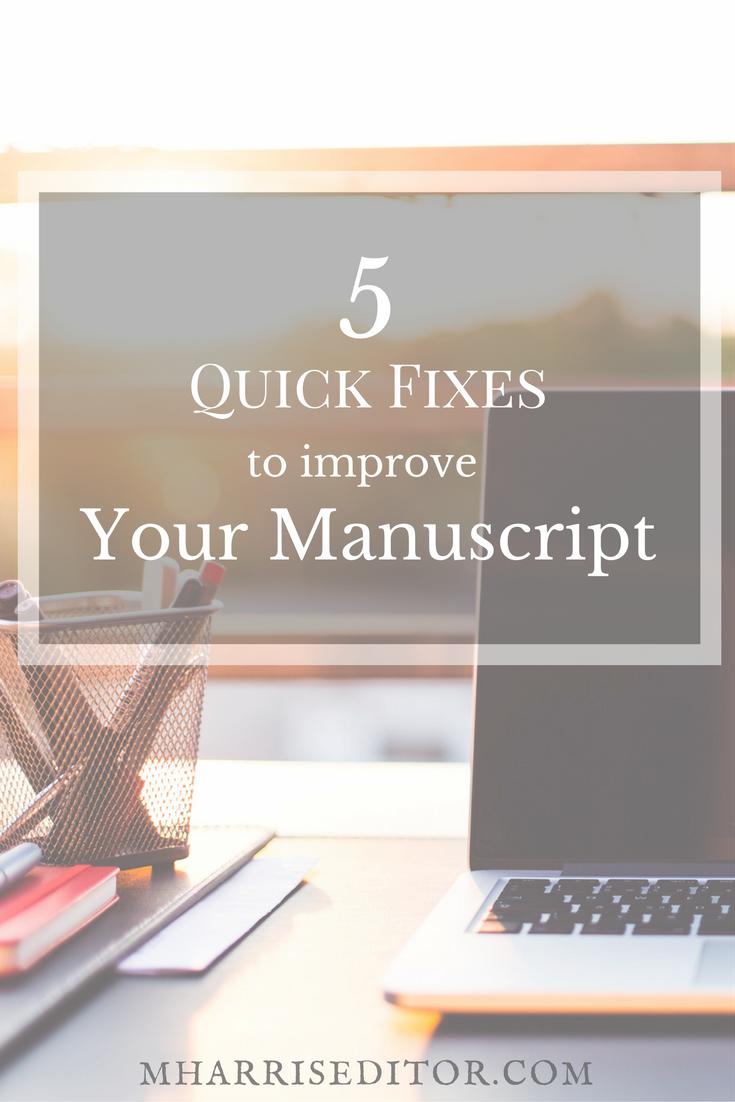 5-quick-fixes-improve-manuscript